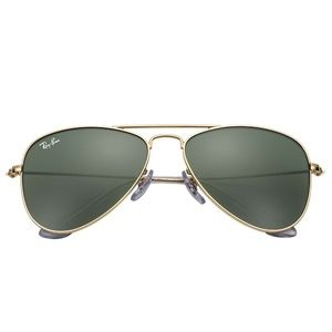 NEW Ray-Ban Kids Aviators (Gold/Green)